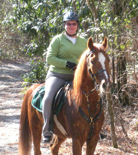 Trail rider Renee Wormell, Secretary Granite State Carriage