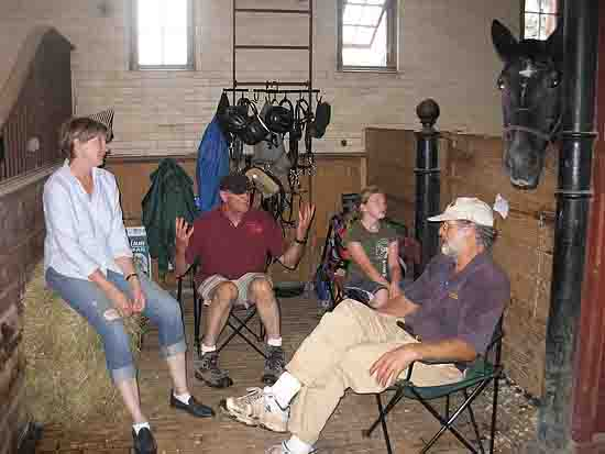 GSCA driving club members in Coach Barn at Shelburne Farms, VT