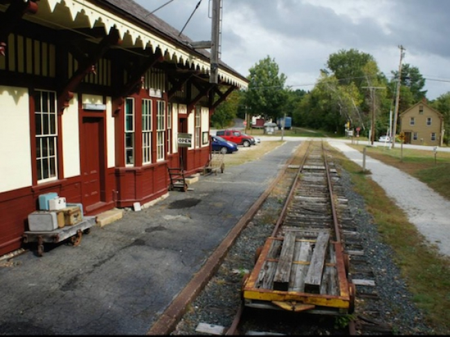 Rail Trail Andover NH Potter Place Depot